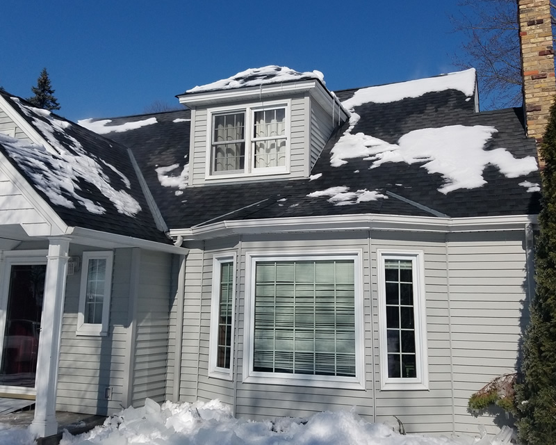 After Roof Snow Removal