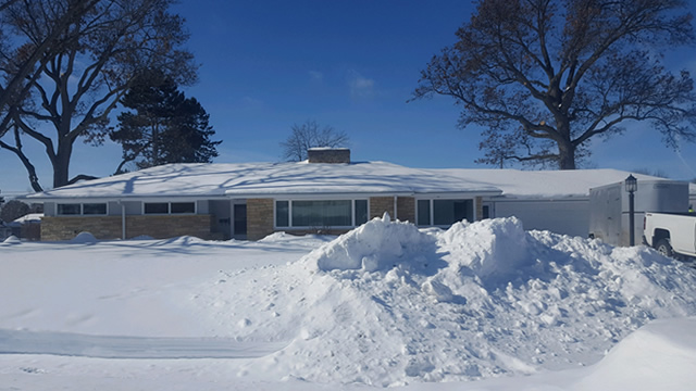 Before Roof Snow Removal