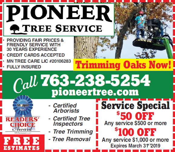 Winter Tree Trimming Coupon